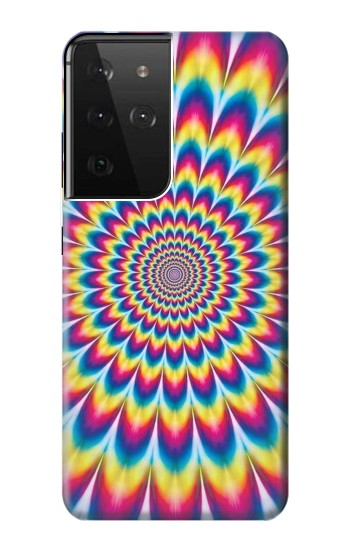 Printed Colorful Psychedelic Samsung Galaxy S21 Ultra 5G Case