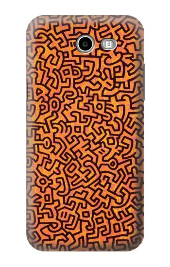 Printed Keith Haring Exposition Samsung Galaxy J3 Emerge Case