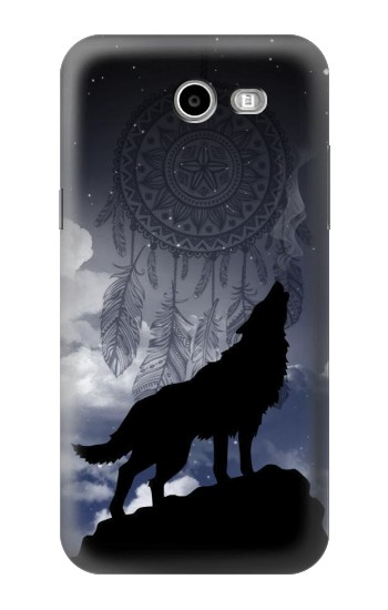 Printed Dream Catcher Wolf Howling Samsung Galaxy J3 Emerge Case