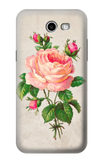 Printed Vintage Pink Rose Samsung Galaxy J3 Emerge Case