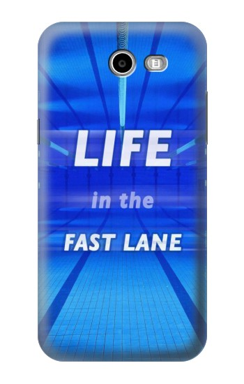 Printed Life in the Fast Lane Swimming Pool Samsung Galaxy J3 Emerge Case