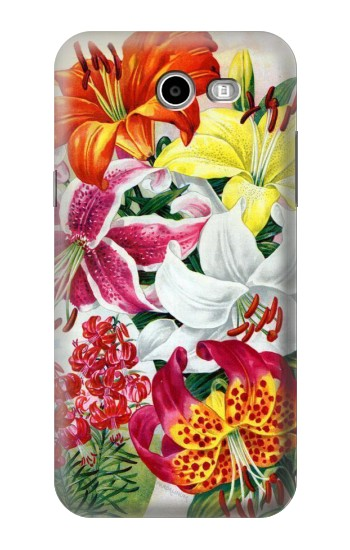 Printed Retro Art Flowers Samsung Galaxy J3 Emerge Case