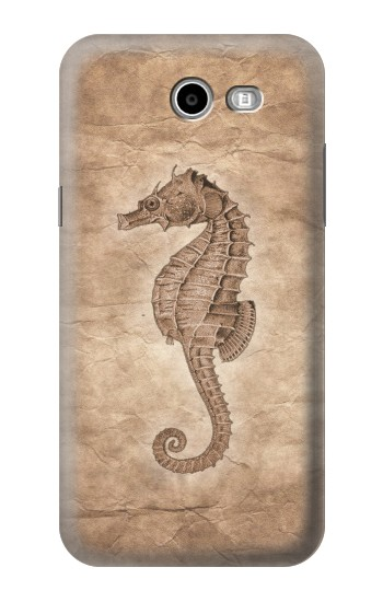 Printed Seahorse Old Paper Samsung Galaxy J3 Emerge Case