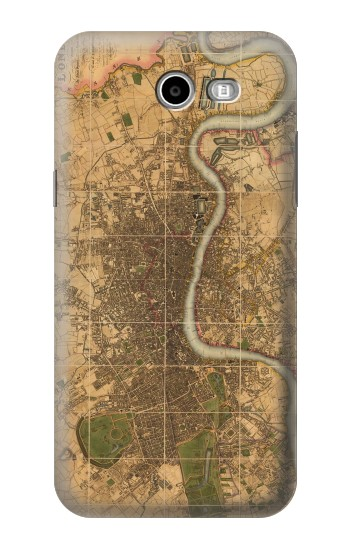 Printed Vintage Map of London Samsung Galaxy J3 Emerge Case