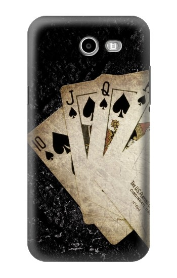 Printed Vintage Royal Straight Flush Cards Samsung Galaxy J3 Emerge Case