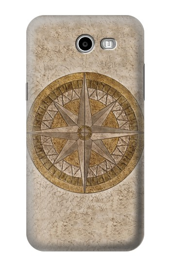 Printed Windrose Circle Stamp Samsung Galaxy J3 Emerge Case