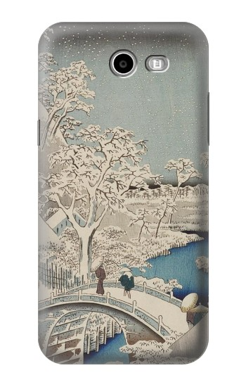 Printed Utagawa Hiroshige The Drum Bridge at Yuhi Hill in Meguro Samsung Galaxy J3 Emerge Case