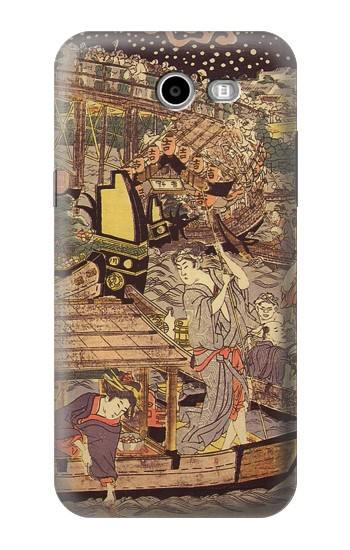 Printed Utagawa Kuniyasu Fireworks at Ryogoku Bridge Samsung Galaxy J3 Emerge Case