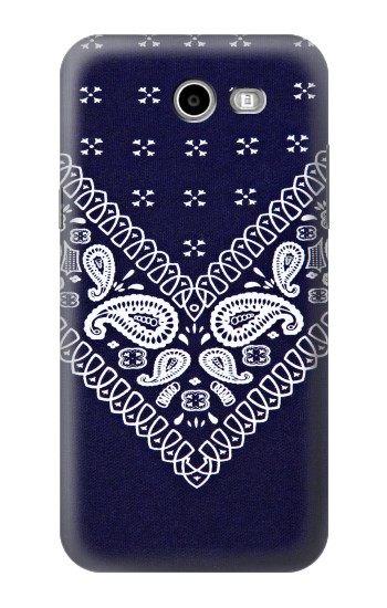 Printed Navy Blue Bandana Pattern Samsung Galaxy J3 Emerge Case