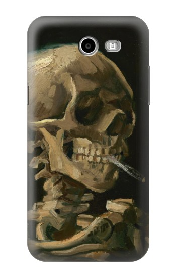 Printed Vincent Van Gogh Head Skeleton Cigarette Samsung Galaxy J3 Emerge Case