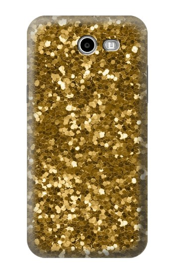 Printed Gold Glitter Graphic Print Samsung Galaxy J3 Emerge Case