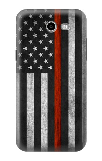 Printed Firefighter Thin Red Line Flag Samsung Galaxy J3 Emerge Case