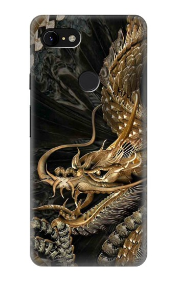 Printed Gold Dragon Google Pixel 3 XL Case