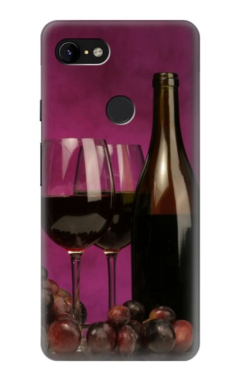 Printed Red Wine Google Pixel 3 XL Case