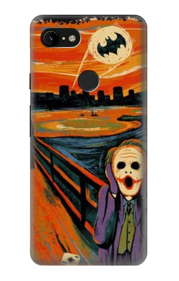 Printed Scream Joker Batman Google Pixel 3 XL Case