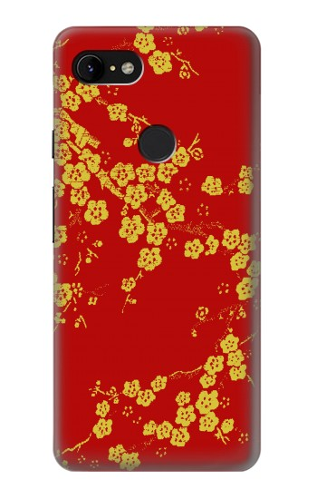 Printed Cherry Blossoms Chinese Silk Graphic Printed Google Pixel 3 XL Case