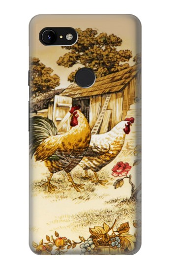 Printed French Country Chicken Google Pixel 3 XL Case