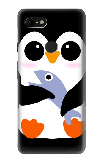 Printed Cute Baby Penguin Google Pixel 3 XL Case