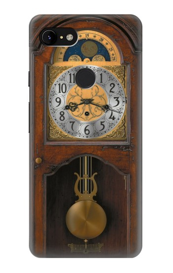 Printed Grandfather Clock Antique Wall Clock Google Pixel 3 XL Case