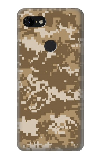 Printed Army Camo Tan Google Pixel 3 XL Case