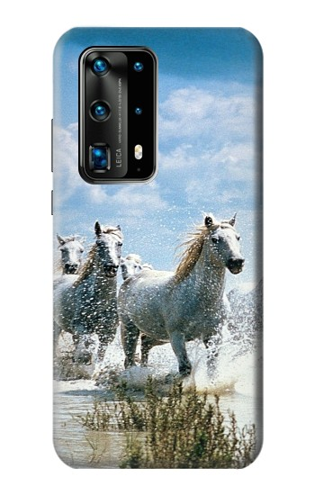 Printed White Horse 2 Huawei P40 Pro+ Case