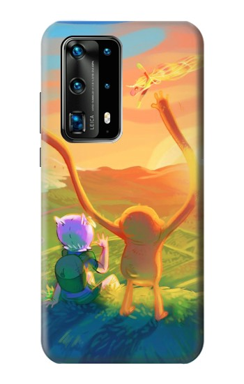 Printed Adventure Time Huawei P40 Pro+ Case