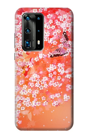 Printed Japanese Style Flower Pattern Huawei P40 Pro+ Case