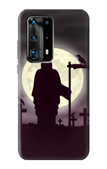 Printed Night Moon Cemetery Huawei P40 Pro+ Case