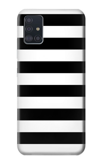 Printed Black and White Striped Samsung Galaxy A51 5G Case
