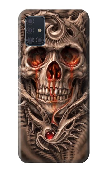 Printed Skull Blood Tattoo Samsung Galaxy A51 5G Case