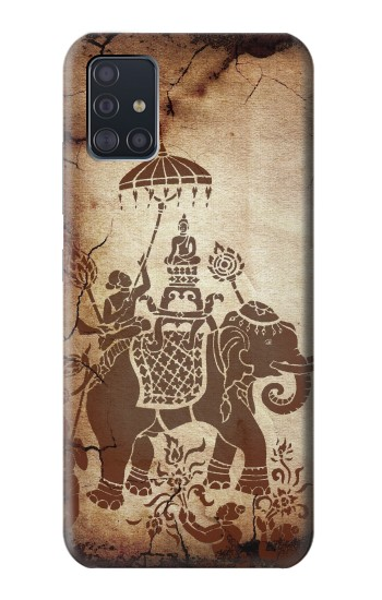 Printed Thai Art Buddha on Elephant Samsung Galaxy A51 5G Case