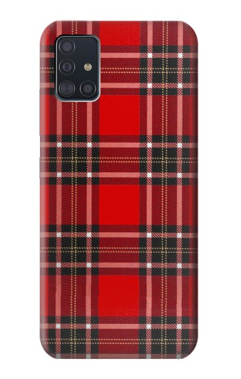 Printed Tartan Red Pattern Samsung Galaxy A51 5G Case