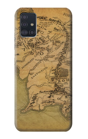 Printed The Lord Of The Rings Middle Earth Map Samsung Galaxy A51 5G Case