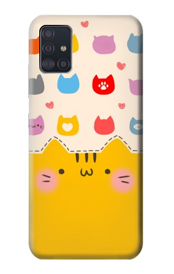 Printed Cute Cat Pattern Samsung Galaxy A51 5G Case