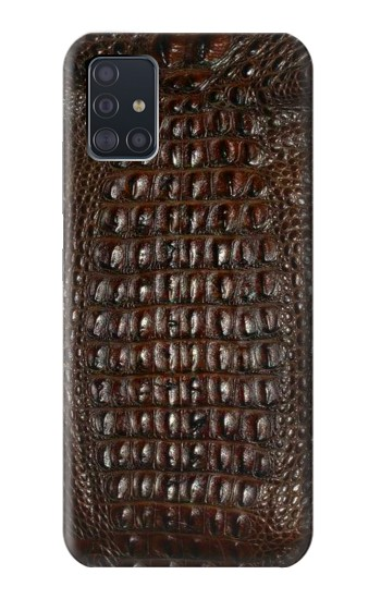 Printed Brown Skin Alligator Graphic Printed Samsung Galaxy A51 5G Case