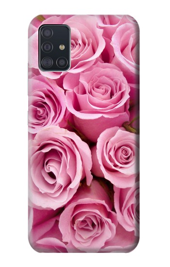 Printed Pink Rose Samsung Galaxy A51 5G Case