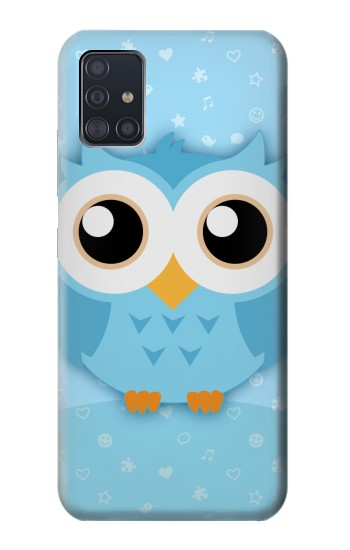 Printed Cute Blue Owl Samsung Galaxy A51 5G Case