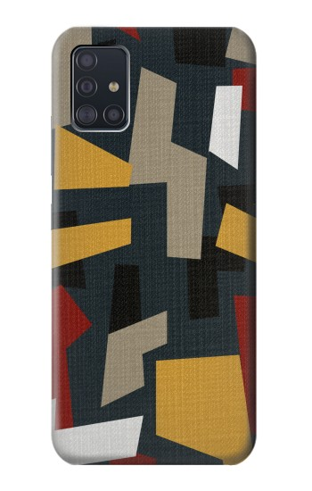 Printed Abstract Fabric Texture Samsung Galaxy A51 5G Case