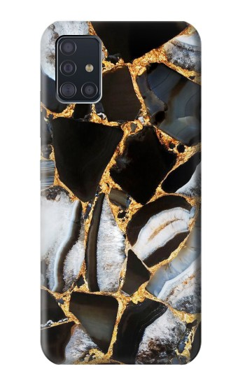 Printed Gold Marble Graphic Print Samsung Galaxy A51 5G Case