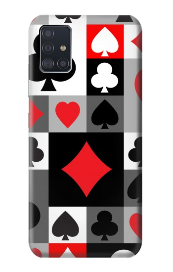 Printed Poker Card Suit Samsung Galaxy A51 5G Case