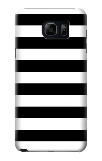 Printed Black and White Striped Samsung Galaxy S6 edge plus Case