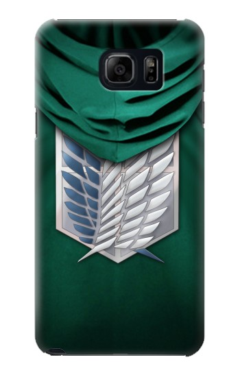 Printed Attack on Titan Scouting Legion Rivaille Green Cloak Samsung Galaxy S6 edge plus Case
