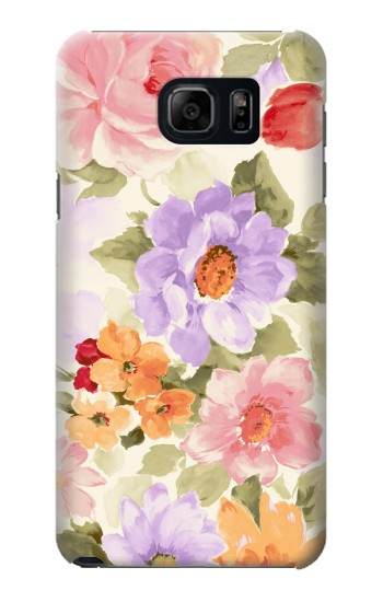 Printed Sweet Flower Painting Samsung Galaxy S6 edge plus Case