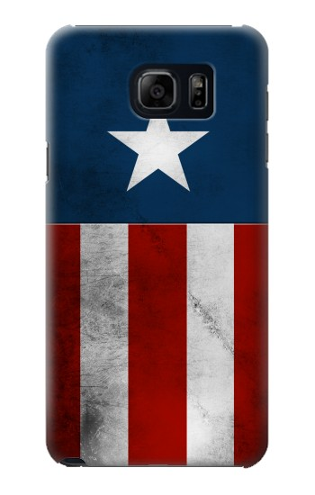 Printed Captain Star Flag of America Samsung Galaxy S6 edge plus Case