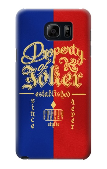Printed Property of Joker Puddin Freaky Style Samsung Galaxy S6 edge plus Case