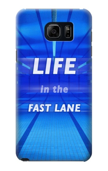 Printed Life in the Fast Lane Swimming Pool Samsung Galaxy S6 edge plus Case