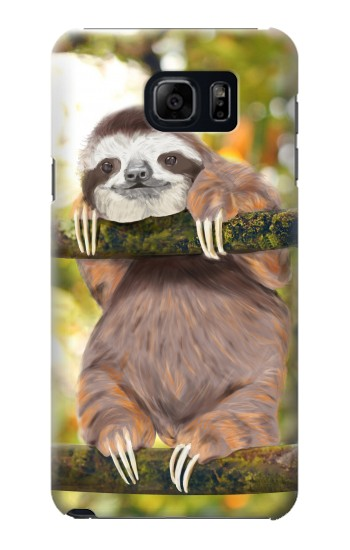 Printed Cute Baby Sloth Paint Samsung Galaxy S6 edge plus Case