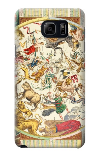 Printed Antique Constellation Map Samsung Galaxy S6 edge plus Case