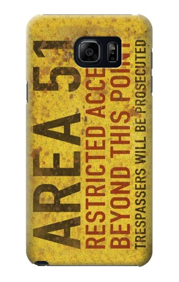 Printed Area 51 Restricted Access Warning Sign Samsung Galaxy S6 edge plus Case
