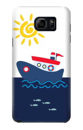 Printed Cartoon Fishing Boat Samsung Galaxy S6 edge plus Case